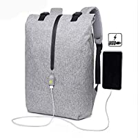 Wgw Outdoor Travel Computer Backpack, Multi-Function Bag Casual Shoulder Book Bags with USB Charging Port, for School Travel