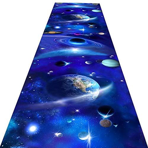 Alfombras de Pasillo Azul Patrón del Sistema Solar del Espacio Exterior Runner para el Pasillo Sala...