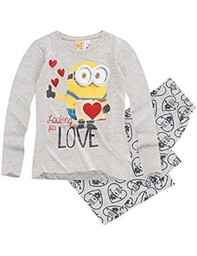 Minions Despicable Me Mädchen Pyjama Schlafanzug 2016 Kollektion - blau