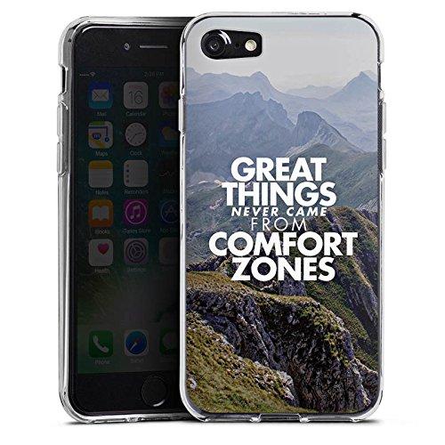 Apple iPhone X Silikon Hülle Case Schutzhülle Motivation Sprüche Workout Silikon Case transparent