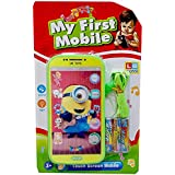 (Silbans International) Digital Meenions Kids Mobile Phone With Touch Feature And With Amazing Light And Sound Effect For Kids