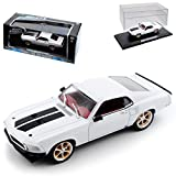 alles-meine.de GmbH Ford Mustang Boss 302 Coupe I Weiss 3. Generation 1969-1970 Roman´s Fast and Furious 1/43 Greenlight Modell Auto