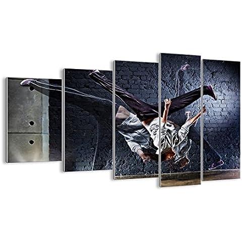Quadro su vetro - cinque 5 tele - larghezza: 150cm, altezza: 100cm - numero dell'immagine 2110 - pronto da appendere - elementi multipli - Arte digitale - Moderno - Quadro in vetro - GEG150x100-2110