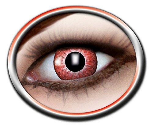 en - farbige 3-Monats-Kontaktlinsen - electro red m19 ()