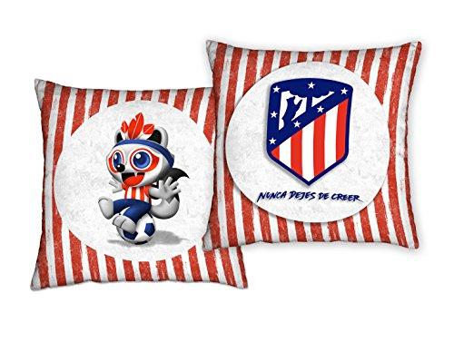 Atlético de Madrid. Bedruckte Kissen in 50x 50cm. offiziell lizensiert des Club. Cojín 50x50 Indi 1