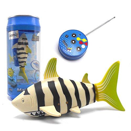 eMart Mini Fernbedienung Fisch Elektrisches Spielzeug RC Hai Shark Schwimmendes Wasserspielzeug Kinder Weihnachtsgeschenke - Gelb (Fisch Fernbedienung,)