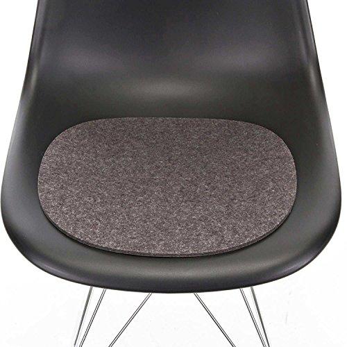 Hey Sign Sitzauflage anthrazit mit Antirutsch für Eames Plastic Side Chair