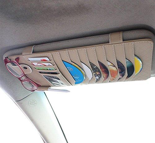 Chytaii KFZ Multifunktions CD Lagerung Clip Gläser Karten Stift Gehäuse Visier Einzel CD Aufbewahrungsbox Auto Storage für CD