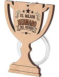 Dawanza - Regalos Mujer/Hombre Llavero de Madera Natural del Trofeo Grabado - Regalo Original