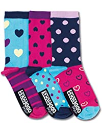Ladies United Oddsocks Set of 3 Odd Socks Lucy The Dog Hearts Stripes Polka Dots