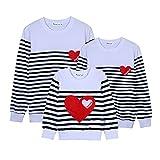 Passende Familie T-shirt Langarmshirts Pullover Kleidung Kostüme Outwear für Kinder Mom Dad Durch Shiningup