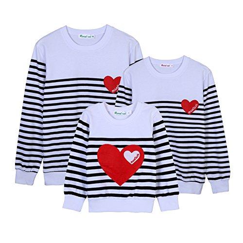 Familien Passenden Kostüme (Passende Familie T-shirt Langarmshirts Pullover Kleidung Kostüme Outwear für Kinder Mom Dad Durch)