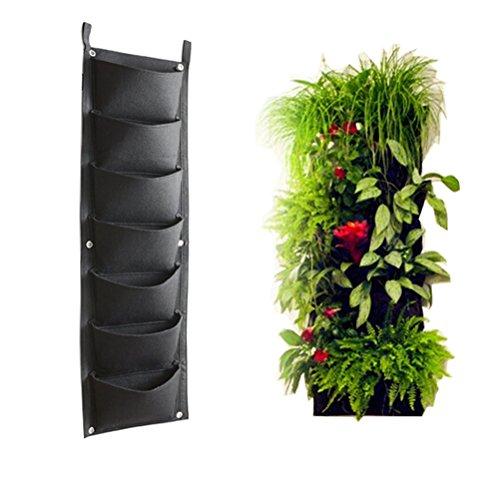 AmgateEu 7 Pockets Vertical Wall Garden Planter