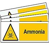 SMS zusammen Ammoniak Metall Schild Hazard Warnung