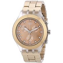 Swatch Full Blooded - Reloj de mujer, cuarzo, color caramelo