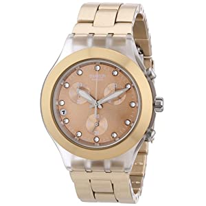 Swatch Full Blooded – Reloj de mujer, cuarzo, color caramelo