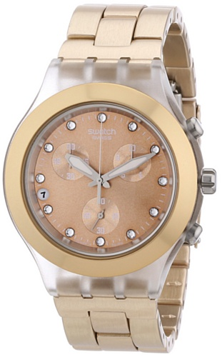 Swatch Full Blooded – Reloj de mujer, cuarzo, color caramelo