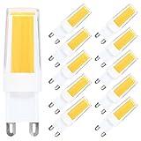 10er G9 LED Lampe Birne 4W 300LM 3000K Warmweiss LED Leuchtmittel Ersatz für 30W Halogen Lampen,360º Abstrahlwinkel, Nicht Dimmbar