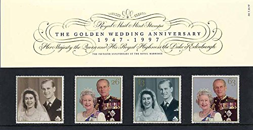 1997 The Golden Wedding Anniversary Presentation Pack No. 281 - Royal Mail Stamps