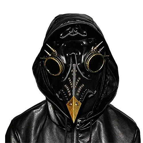 Kostüm Steampunk Horror - Zounghy Halloween Cosplay Pest Arzt Maske Steampunk Schnabel Horror Retro Metall Maske Kostüm Party.