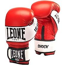 Leone 1947 Shock guantes de boxeo., Unisex adulto, Shock, rojo