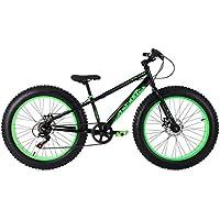 KS Cycling Kinder Fatbike SNW2458 Fahrrad, Schwarz-Grün, 24