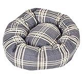 Tartan - Pet Beds Direct Haustierbett, Donut-Design, Schottenkaro Hundebett, bequem, kariert, Größe M, 76,2 cm, 4 Farben und 4 Farben