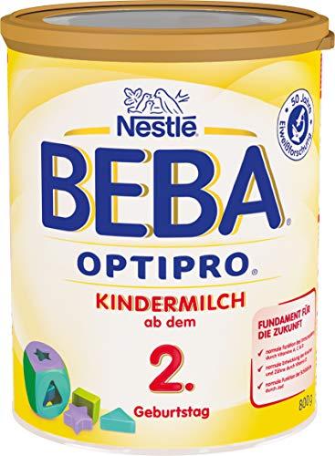 Beba Nestlé BEBA OPTIPRO Kindermilch ab dem 2. Geburtstag, für eine altersgerechte Ernährung, Milchgetränk mit den Vitaminen A, C & D, 1 x 800 g