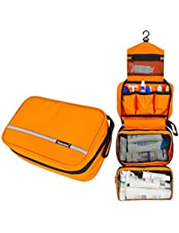Orange : MLMSY Waterproof Hanging Type Travel Toiletry Bag Makeup Bag Travel Organizers For Cosmetic, Shaving,...