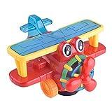 Omiky® Karikatur-elektrisches gehendes Flugzeug 3D Licht Musik Kinderspielzeug Geschenk