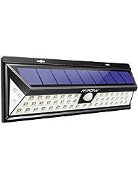 Mpow Foco Solar Exterior,Luces Solares Jardín 54 LED, Gran Ángulo 120°,