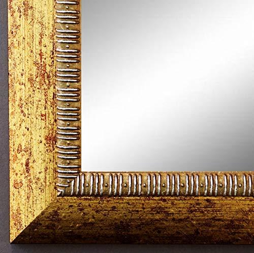 Online Galerie Bingold Spiegel Wandspiegel Badspiegel Flurspiegel Garderobenspiegel - Über 200 Größen - Turin Gold 4,0 - Außenmaß des Spiegels 30 x 40 - Wunschmaße auf Anfrage - Antik, Barock