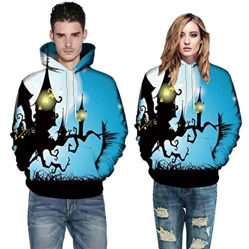 Halloween Kostüme Für Frauen Männer Paare 3D Druck Langarm Hoodies Sweatshirt Herbst Winter Halloween 35 E 4XL