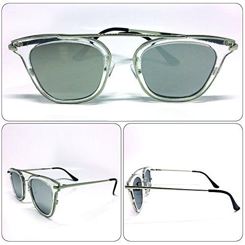 see vision Sonnenbrille Sunglasses Herren Damen Unisex Transparent Vintage Art. A192017
