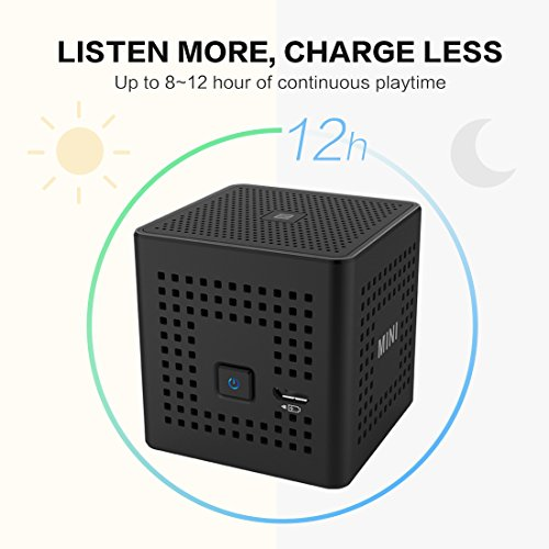LX7-Mini-Portable-Wireless-Bluetooth-Speakers-6W-Output-Travel-Outdoor-Rechargeable-Speaker-Bluetooth-41-NFC-Compatibility-12-Hour-Playtime-for-MP3-Player-iPhone-iPad-LG-Samsung-Laptops-Smart-phones