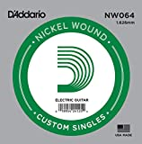 D'Addario .064 Nickel Wound Single String for Electric Guitar