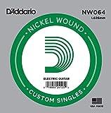 D\'Addario Corde seule avec filet en nickel pour guitare électrique D\'Addario NW064, .064