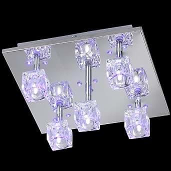 reality leuchten r62095106 niedervolt led deckenleuchte inkl 15x led 5x g4 4 fach schaltbar. Black Bedroom Furniture Sets. Home Design Ideas