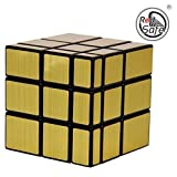 #1: RED Safe 3X3X3 Golden Mirror Speed Cube High Staybility Sticker Less Smooth Swing for Faster Movement