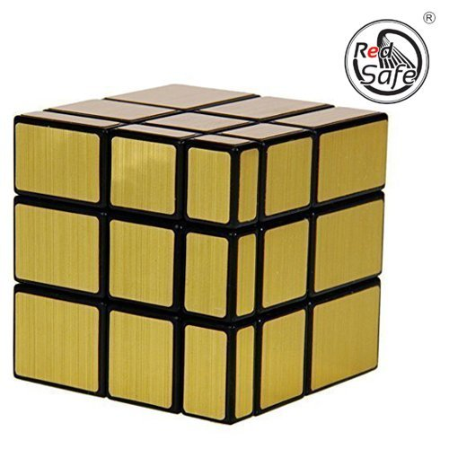 RED Safe 3X3X3 Golden Mirror Speed Cube High Staybility Sticker Less Smooth Swing for Faster Movement