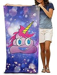 xcvgcxcvasda The Unicorn Poop Emoji Adult Beach Towels Plush Multipurpose Use For Swim Beach Camping Yoga