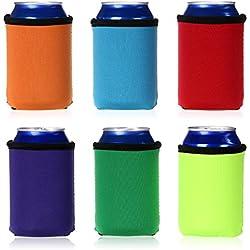 Funda enfriadora Holder Koozie de latas de cerveza, el aislante de latas enfría 0,33 l, varios colores por Ignpion (6piezas)