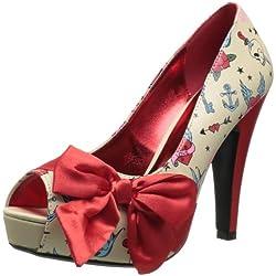 Pinup Couture - Zapatos de tacón mujer, color Multicolor