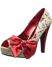 Amazon.es  Satén - Zapatos de tacón   Zapatos para mujer  Zapatos y ... 777a21f91c57