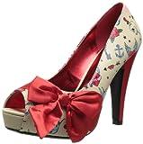 Pinup Couture - zapatos de tacón mujer, color Multicolor, talla 37.5 (5 UK)