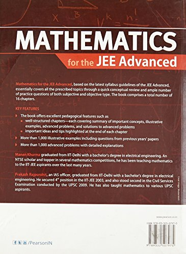 Mathematics for the JEE: Mains and Advanced