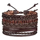 Best Bracelets For 4 - Shining Diva Fashion Set of 4 Genuine Leather Review