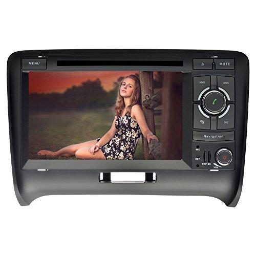YINUO 7 pouces 2 Din écran tactile Autoradio Lecteur de DVD GPS Navigation avec Bluetooth pour Audi TT (2006-2015)