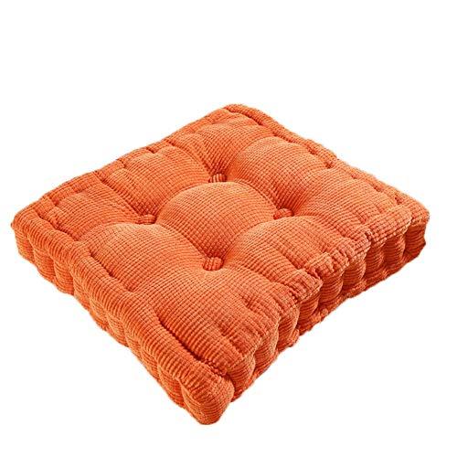 Emjoy Sitzkissen Für Tatami Kissen Kissen Cord Dick Dickes Fett Fenster Pad Square, 45 * 45 cm,   Rose Red -