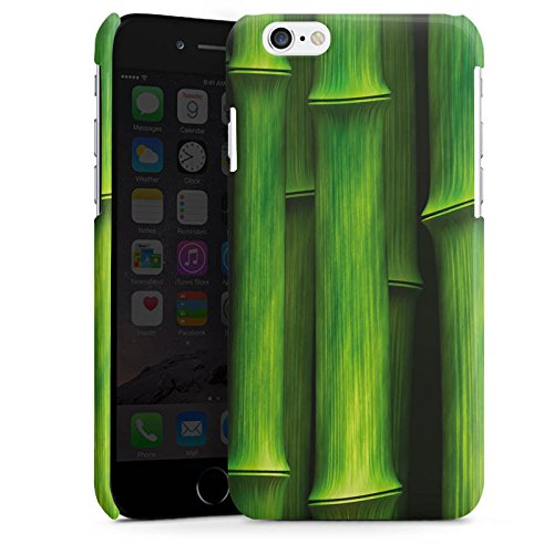 Apple iPhone 4 Housse Étui Silicone Coque Protection Bambou Plante Nature Cas Premium brillant